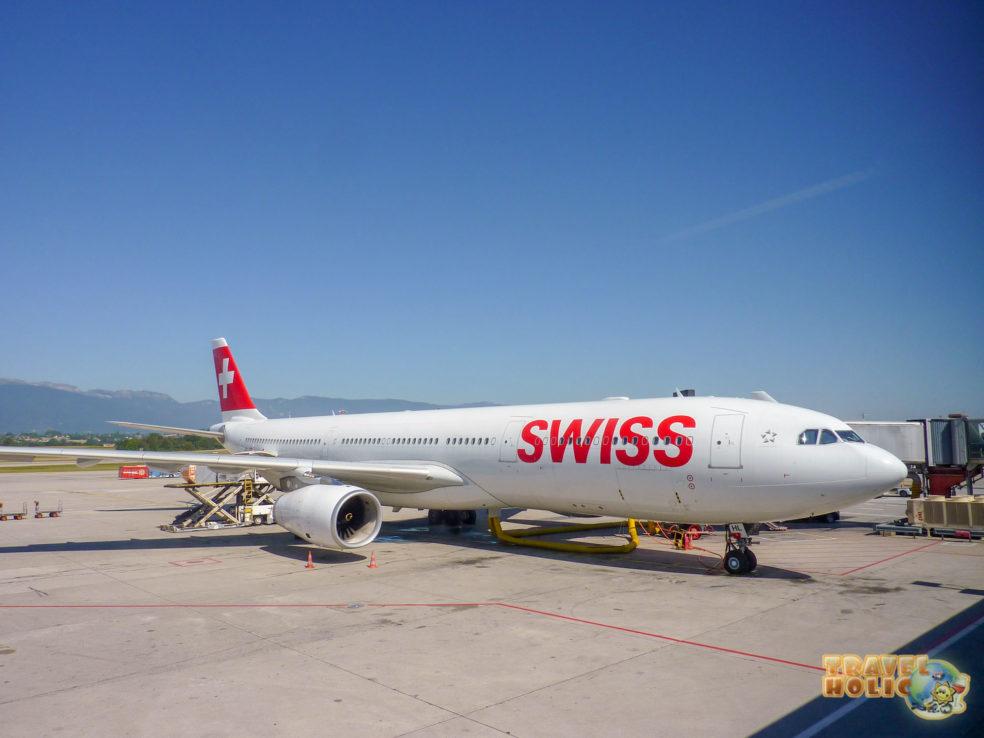 Avion de Swiss à Genève