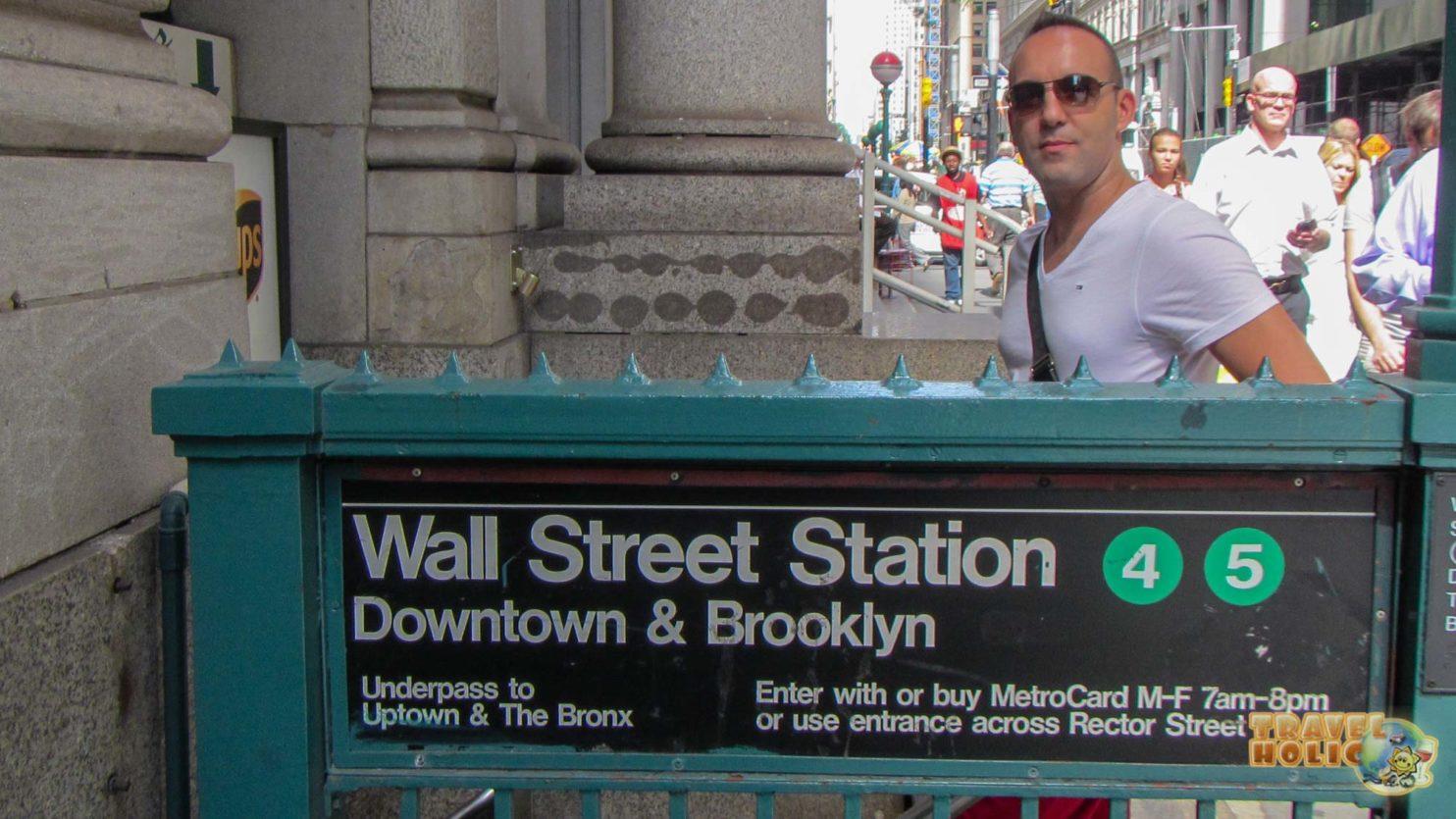 Station de métro Wall Street Station